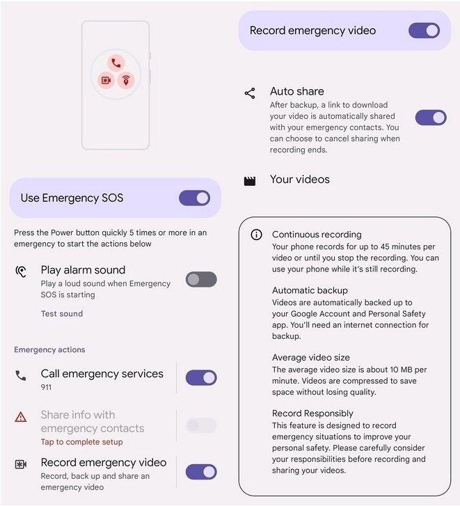 gravação de emergência
