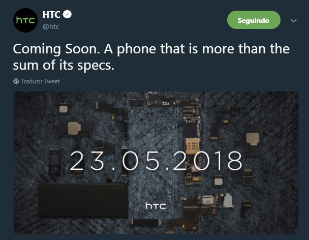 tweet da htc sobre novo evento