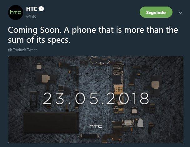 tweet da htc sobre novo evento