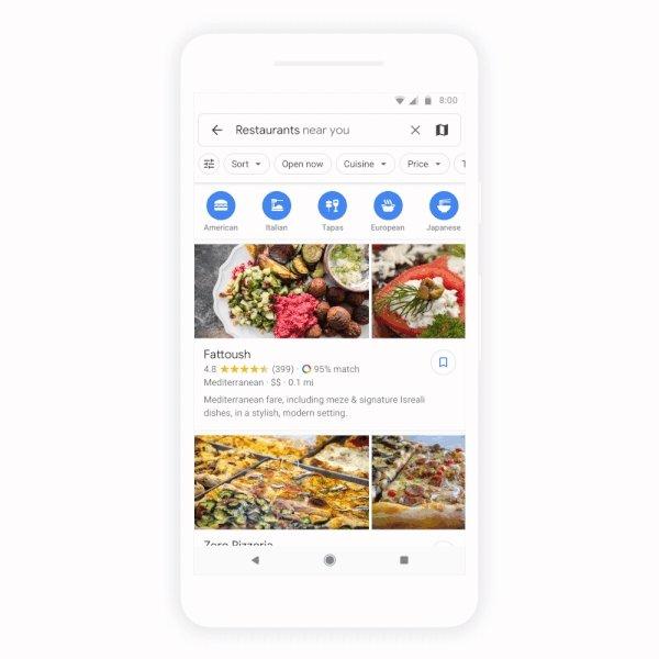 recomendações google maps