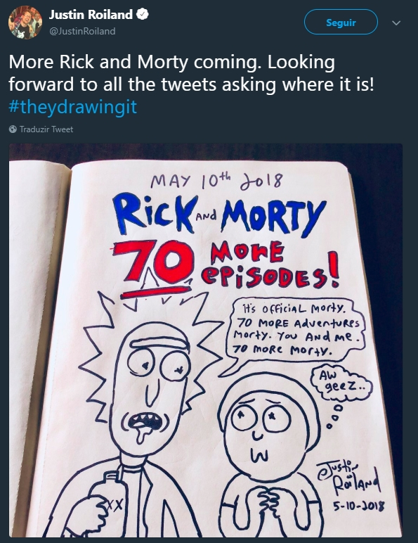 Rick e Morty por mais Sete Temporadas