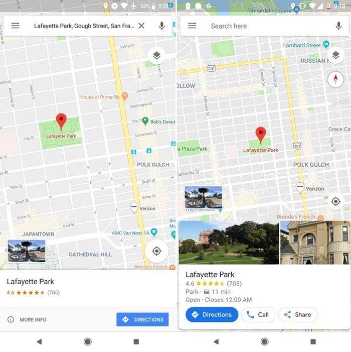novo mapa google maps