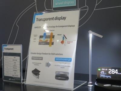 ecrã samsung transparente