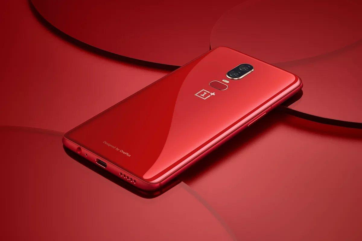 OnePlus 6 vermelho