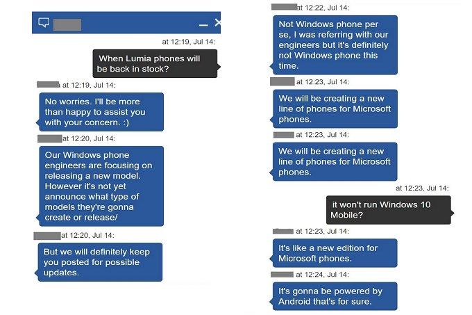 conversa chat microsoft