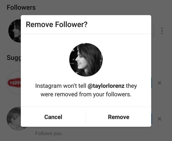 remover seguidor instagram