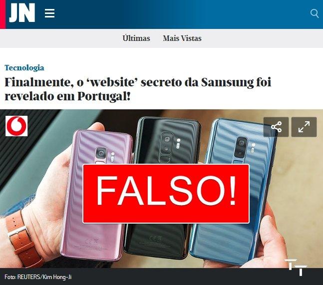site falso samsung premio