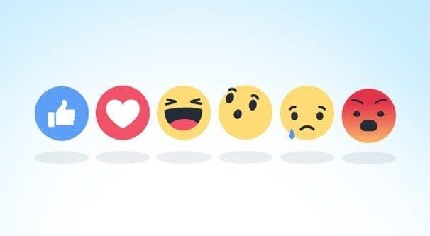 facebook reacções