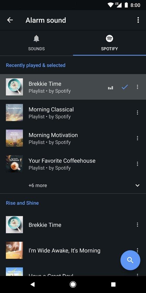 spotify alarme google