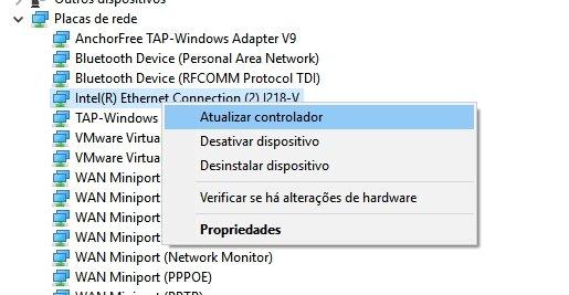 atualizar drivers no Windows 10