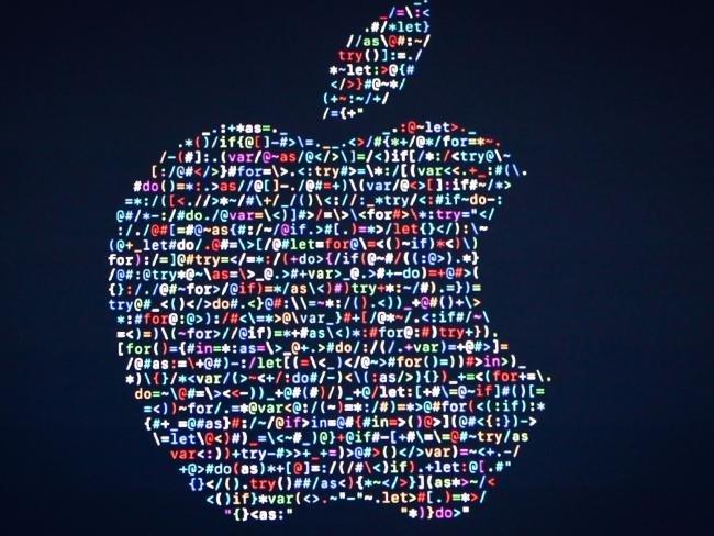 apple logo código