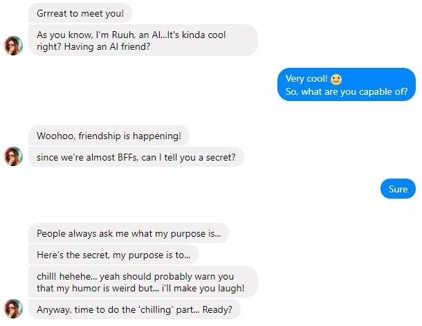 exemplo de conversa ruuh
