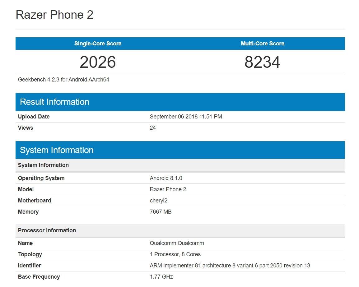 teste razer phone 2