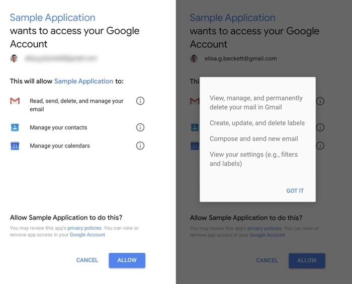 exemplo de aplicação com acesso a dados