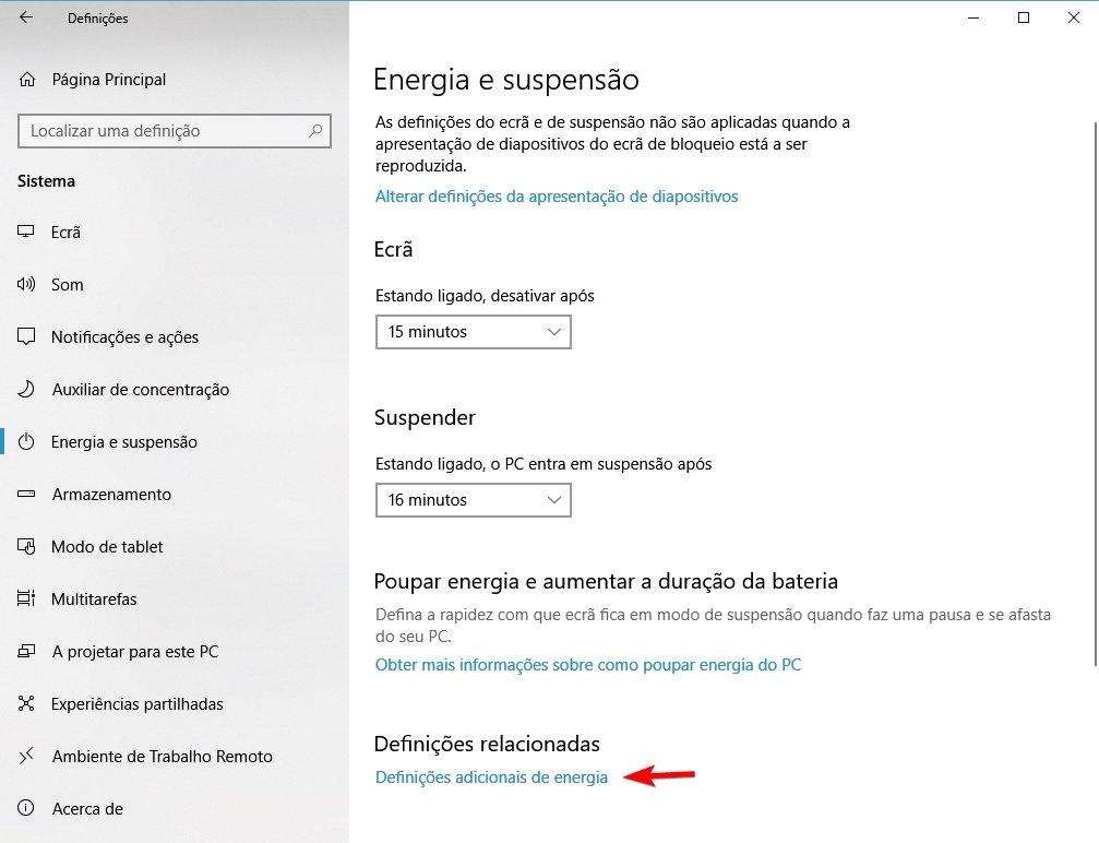 windows 10 modo de energia