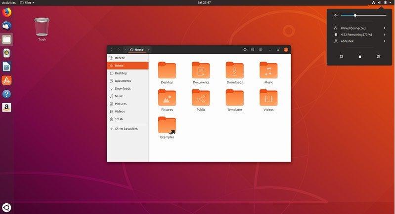 imagem interface ubuntu 18.10