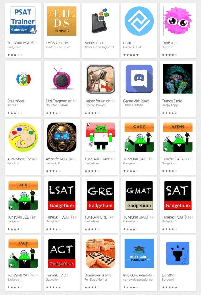 aplicações maliciosas na play store