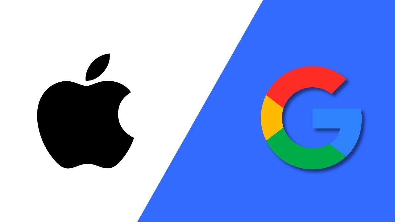 google e apple logos