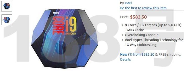 caixa intel core i9 9990