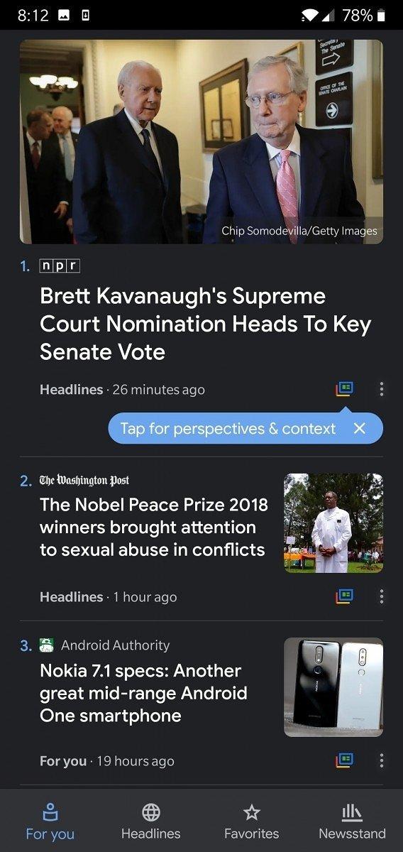 google noticias modo escuro