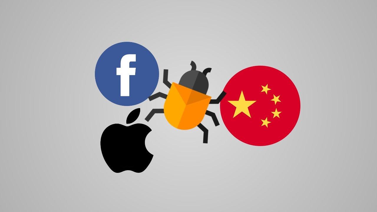 facebook apple china malware