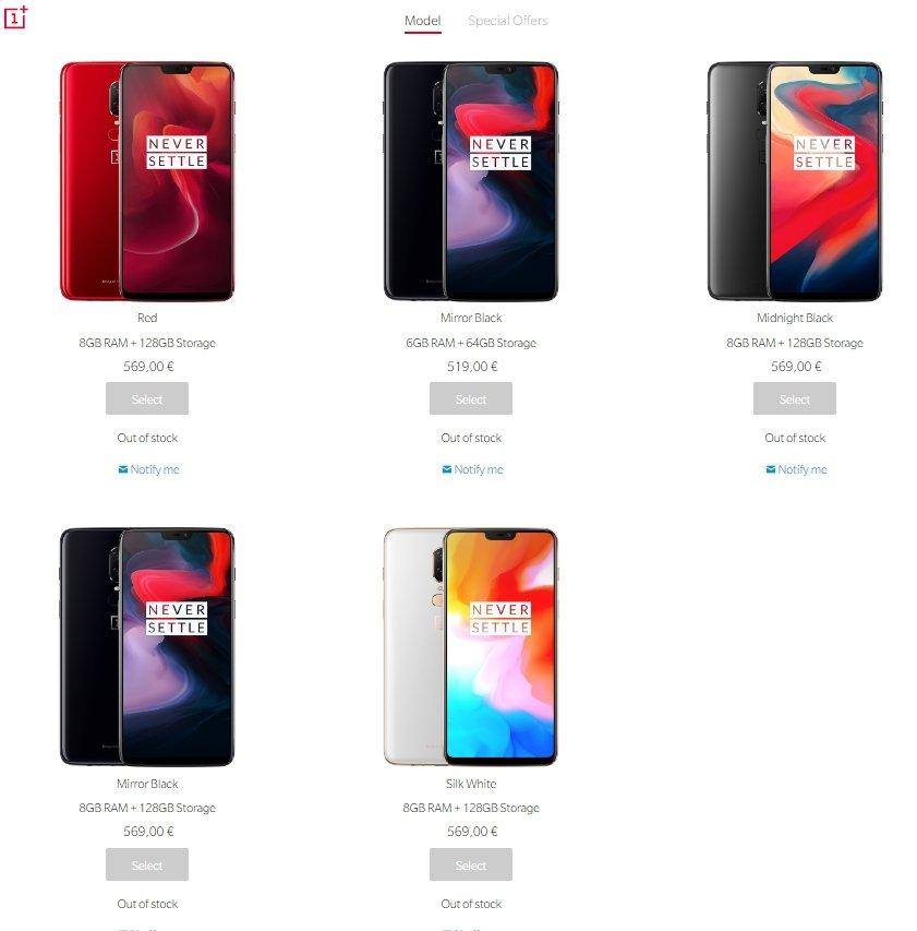 OnePlus fora stock
