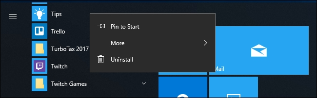 remover apps windows 10
