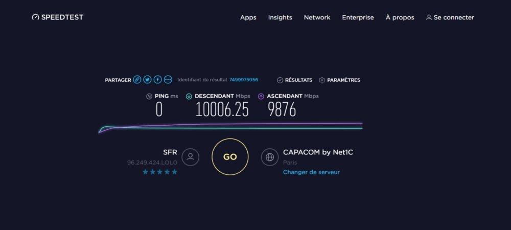 teste velocidade internet