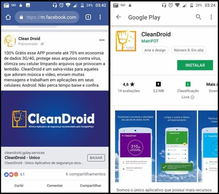 facebook cleandroid malware