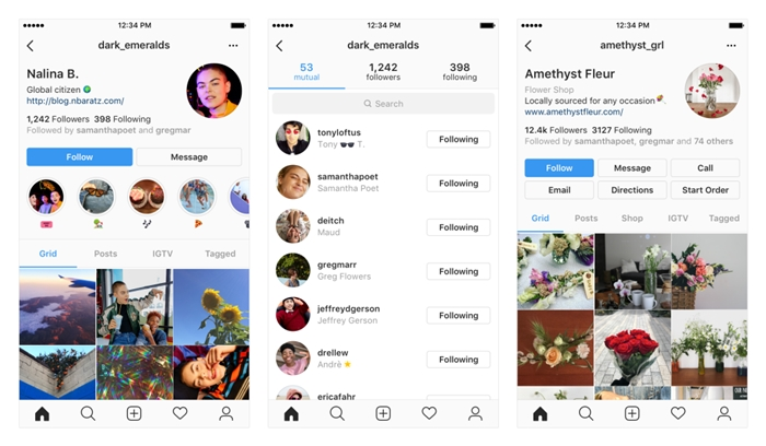 instagram nova interface