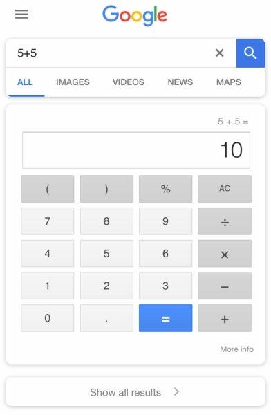 exemplo calculadora google teste