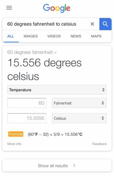 exemplo pesquisa google conversão
