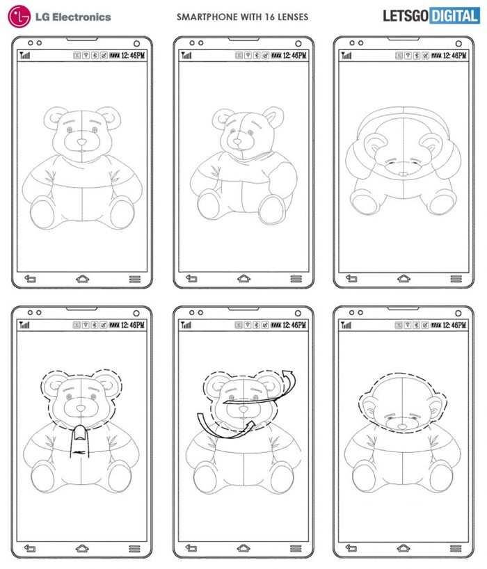 imagem patente lg câmara smartphones edição