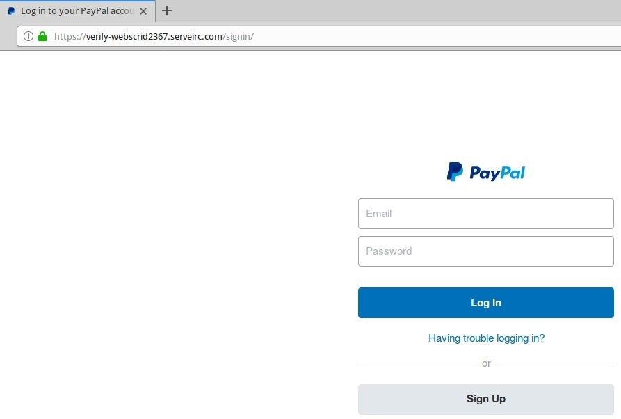 exemplo login paypal https