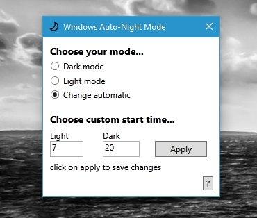 auto night windows
