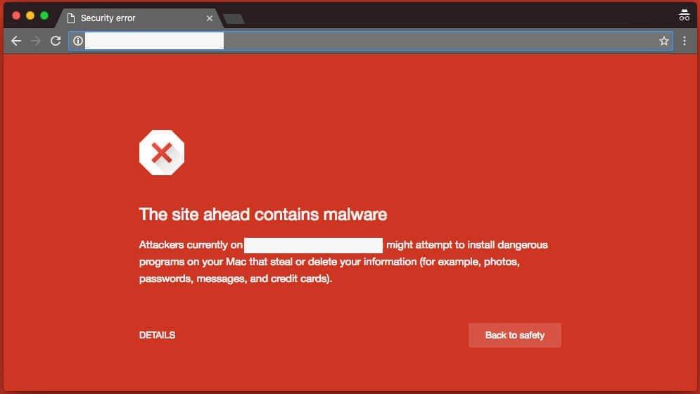 google alerta malware