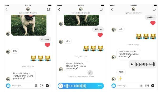 instagram direct mensagens de voz