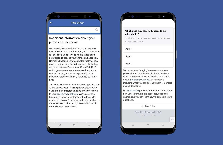 notificação facebook falha segurança