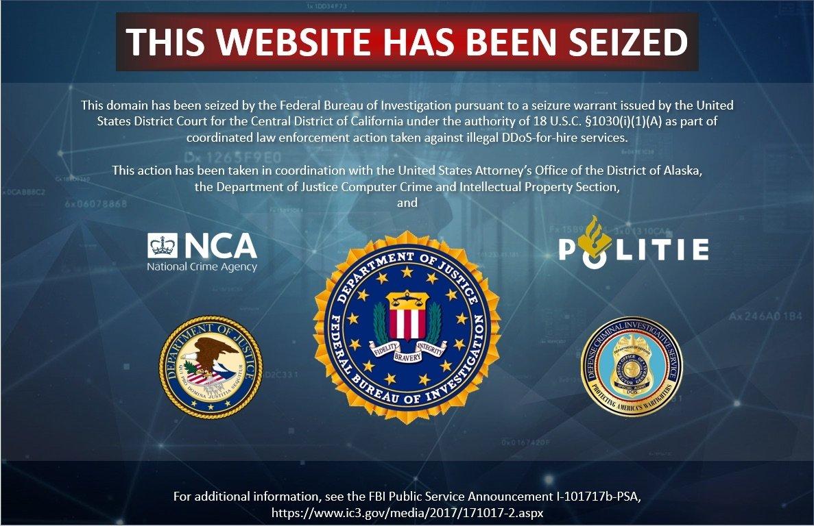 imagem site apreendido fbi