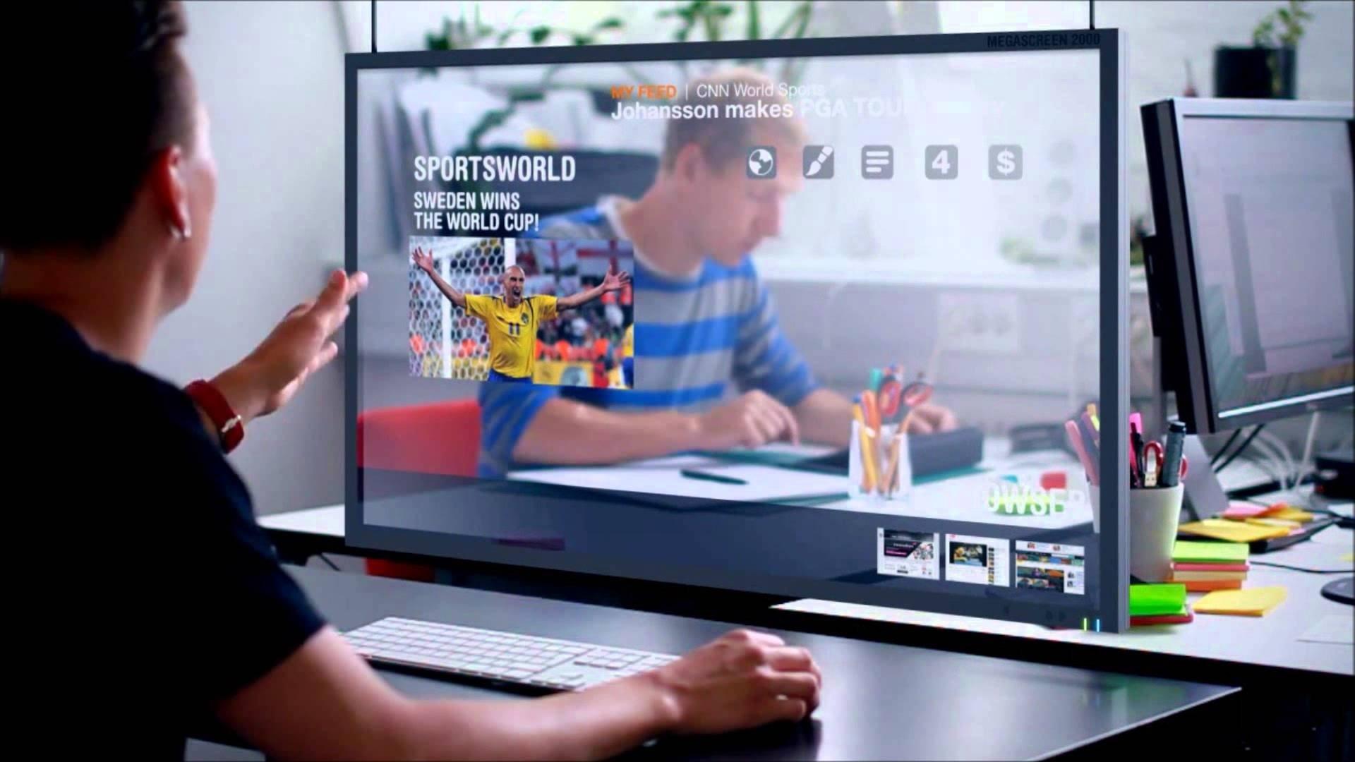 futuro Microsoft ecrãs