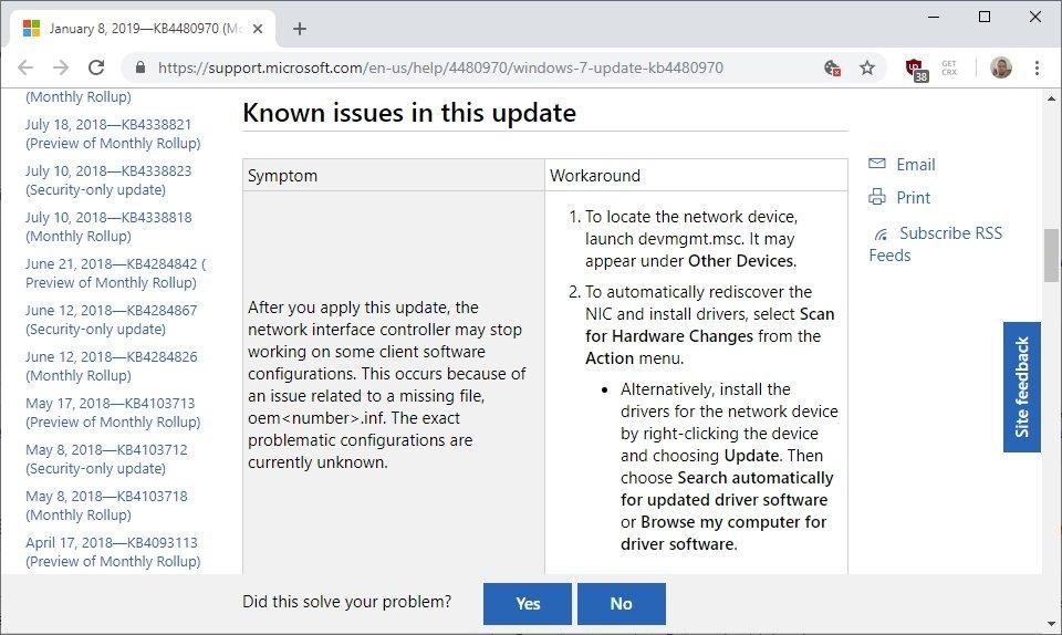 erro atualização windows