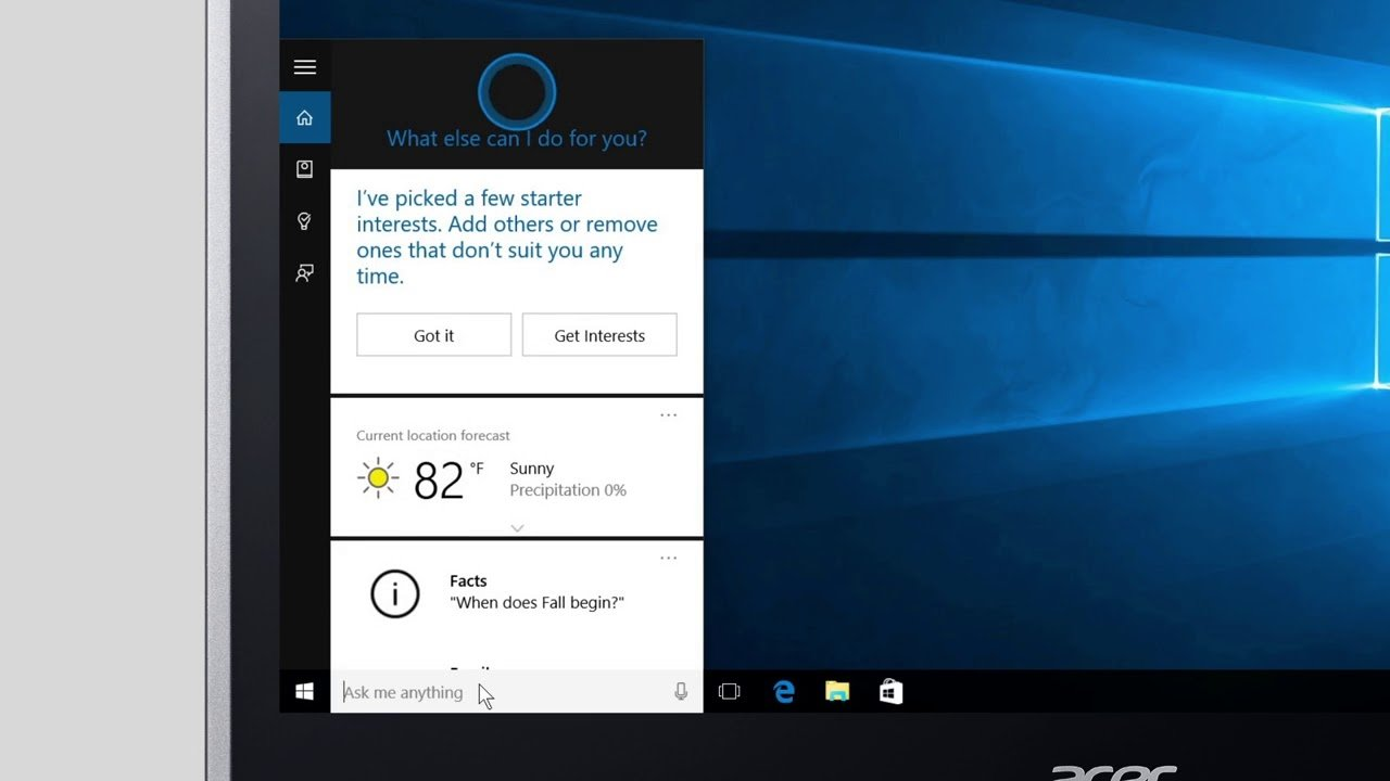Windows cortana