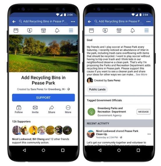 facebook petições online criação