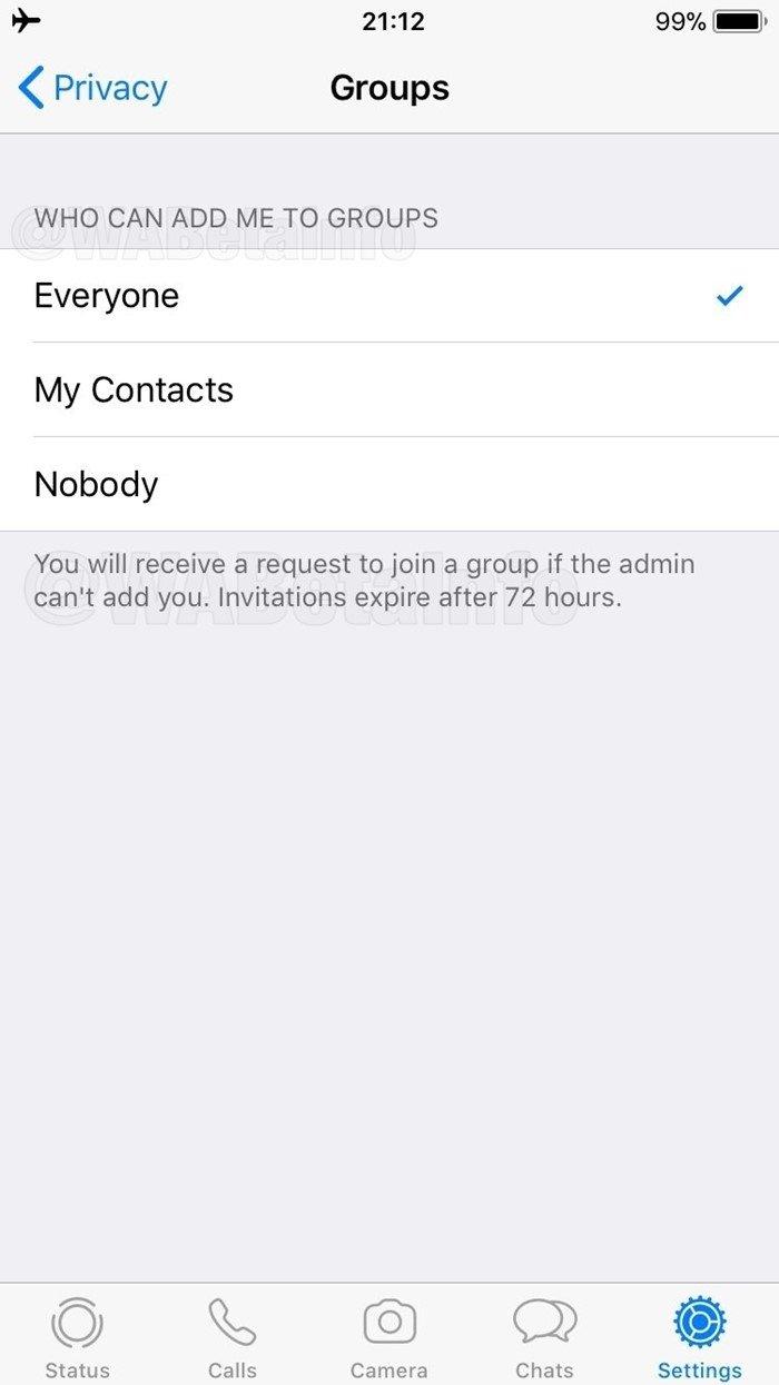 WhatsApp teste grupos