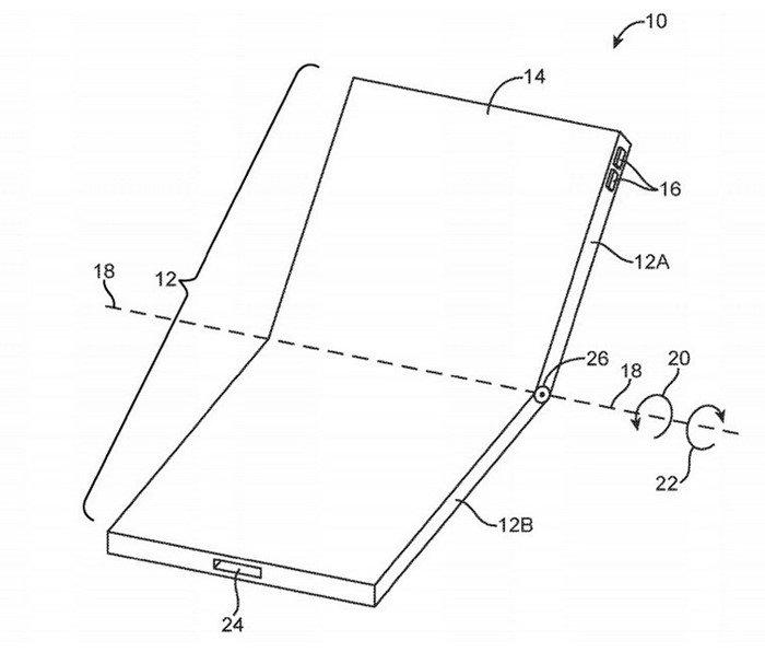 imagem patente apple smartphone dobravel