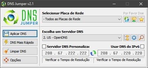 dnsjumper interface principal