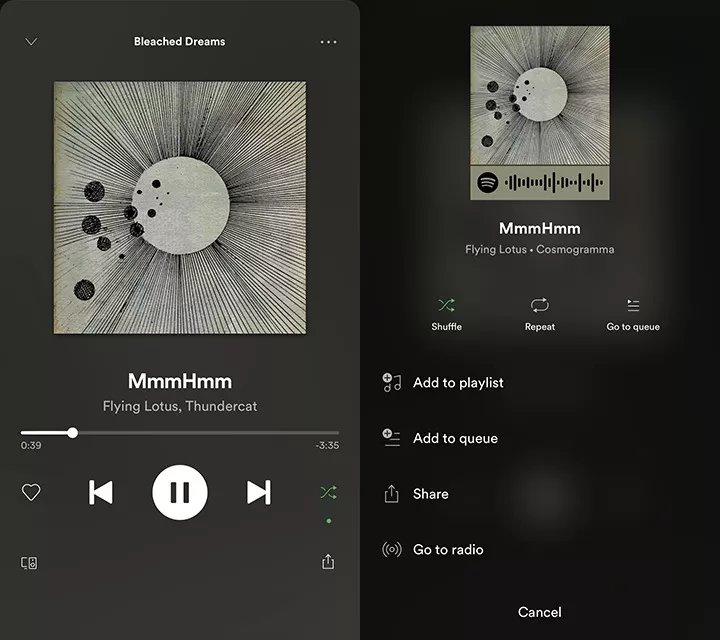 spotify nova interface