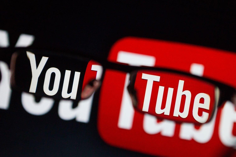 youtube logo sobre oculos