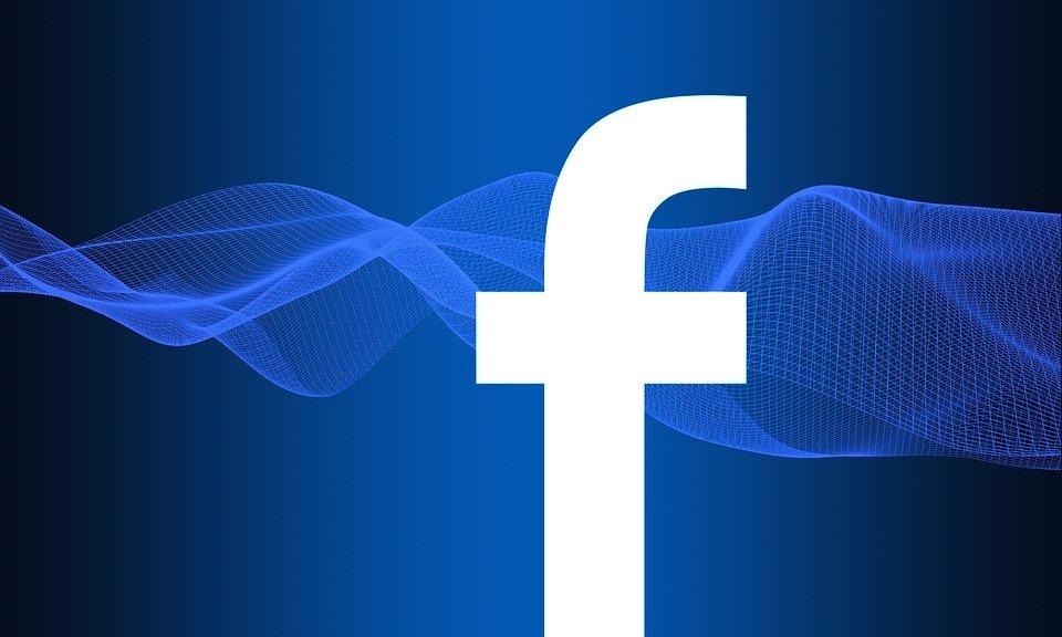 facebook em logo azul escuro